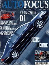 Auto Focus 2002 1/02 MV Brutale Delahaye Graber Alfa Romeo Vola Porsche 911 Targ
