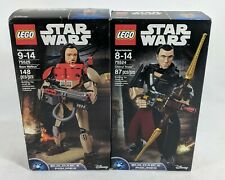 MLD TWO Lego Star Wars Buildable Figures Baze Malbus 75525 Chirrut Imwe 75524 NW