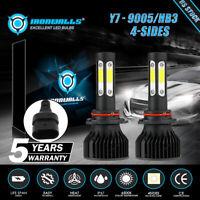 4-Sides 9005 9145 LED Headlight Conversion Kit High Beam 2800W 6500K White Bulbs