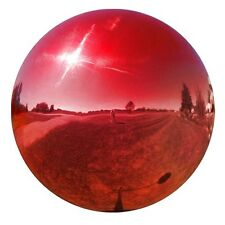 """6"""" Stainless Steel Red Gazing Ball GlobeVCS RED06"""