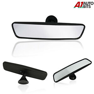 Car Interior Wide Rear View Mirror 29cm Suction Cup Adhesive Driving Glass