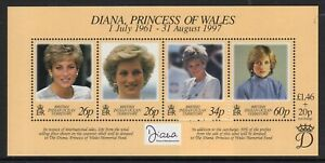 British Indian Ocean Terr. 1998 Princess Diana min. sheet fine fresh MNH