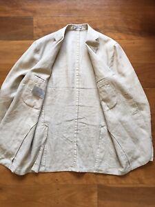 Boglioli Beige Linen Jacket - 50/large