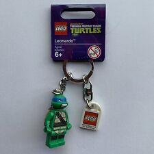 Lego TMNT Ninja Turtles Leonardo Keychain 850648 Ltd Edition Mini Figure 2013