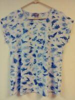 JJILL Scoop Neck TIE DYED T-Shirt Sz Medium Short sleeve FREE SHIPPING