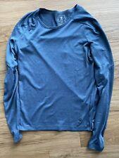On Running Women Long Sleeve Shirt - Blue Small
