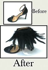 Feathers Shoe Accessories, Black Ankle Accessories, Feather Shoe Clips, Anklet