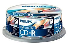 Philips CD-R 90 Minutes 800MB 40x Speed Blank Recordable Discs - 25 Pack Spindle