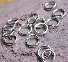 Binderinge  Ø 5 x0,5 mm Sterlingsilber offen Ösenringe 10 Stück Spaltring Silber