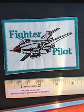 Aircraft Patch - Airplane Blue Border FIGHTER PILOT ACE JET PLANE 5DSS