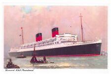 NEW Postcard Cunard RMS Mauretania, Boat, Ship 00L