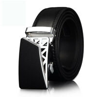 Men's Genuine Leather Fashion Automatic Buckle Belts Waist Strap Belt Waistband