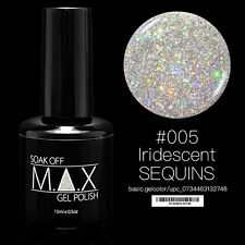MAX 15ml Soak Off Gel Polonais Nail Art UV LED Couleur # 005 - Iridescent Sequin