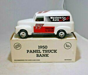 ERTL Diecast 1:25 1950 Panel Truck Bank Western Auto #7553