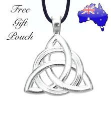 Triquetra Trinity Knot Celtic Witch Wicca Pendant 925 Sterling Silver Necklace