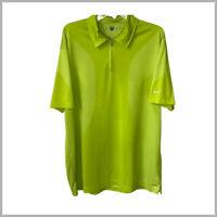 Nike Golf XL mens golf polo shirt neon green short sleeve zip placket stretch