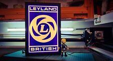 BRITISH LEYLAND DEALER ILLUMINATED LIGHT BOX WALL GARAGE SIGN MAN CAVE LARGE.