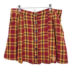 Harry Potter Gryffindor Plaid Skirt Size 2X Hot Topic Cosplay Halloween MINT