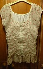 *NEW* Women's Inspire Blouse/Top Corset Detail (Pink/Cream/White) Floral Size 20