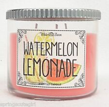 Bath & Body Works White Barn WATERMELON LEMONADE 3-Wick 14.5 oz Scented Candle