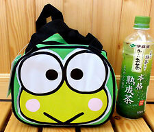 "Sanrio Kero Kero Keroppi Kawaii Nylon Lunch Bag 8""X6.75"" for Kids Color Green"
