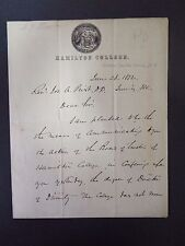 S.G. Brown to a Rev. Jos. A. Prist - Autograph Letter Signed - 1872