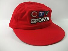 CTV Sports Hat Red Strapback Baseball Cap