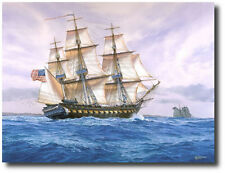 """""""USS Constitution, 1815"""" by Tom Freeman - Heavy Frigate at Sea - Tall Ships Art"""