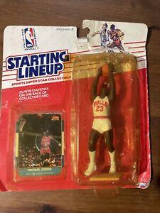 Starting Lineup MICHAEL JORDAN 1988 Rookie Figure With Fleer Rookie Card RP #57