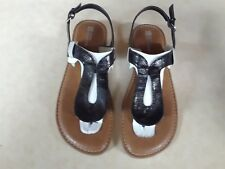 White Mountain Crinkle Patent Adjustable Backstrap Thong Sandals �?New in Box