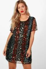 Boohoo Plus Size Dresses for Women with Sequins