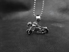 Live to Ride SKULL MOTOR Spirit Pendant FREE NECKLACE for Biker Harley TP63