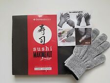 Deluxe Bambooworx Sushi Making Kit w/ FREE Cut Resistant Chef's Gloves Christmas