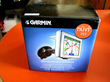 """New Garmin nuvi 350 3.5"""" GPS Unit Complete Set in Garmin Box"""