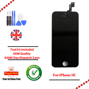 For Apple iPhone SE OEM LCD Black Screen And Digitizer Assembly With Frame Tools