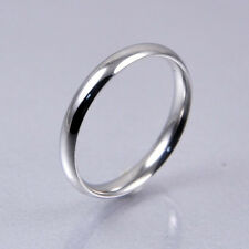 Hot Men Women Silver Stainless Steel Classic Fashion Wedding Band Ring 3 6mm 8 3mm