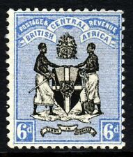 BRITISH CENTRAL AFRICA 1895 Six Pence Black & Blue No Watermark SG 24 MINT