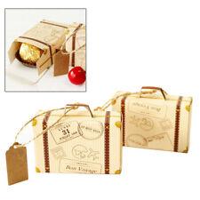 2pcs Mini Koffer Bonbon Geschenkbox Geschenkschachtel Verpackung Karton Hochzeit