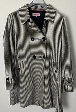 Phase eight Size 16 Navy/Cream Striped Swing Coat Nautical