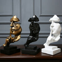 Nordic Style Resin Black&white Silent Decoration Statues Gold Slience Sculptures