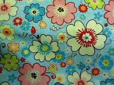 Happy Flappers C4020  FQ or more Riley Blake Fabric 100% Cotton Blue