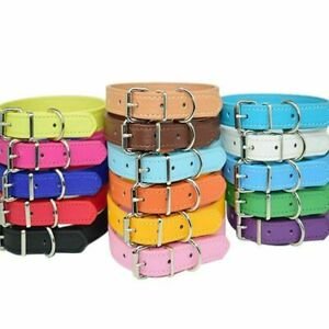 Leather Necklace Pet Collar Puppy Dog Cat Buckle Neck Strap Adjustable Collars
