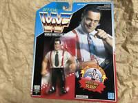 Hasbro Official WWE WWF Wrestling IRS US Blue Wrestling 1993 Figure
