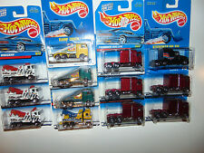 13) Hot Wheels RIG WRECKER Thunder Roller Kenworth Big BLUE CARD Tow Truck LOT