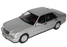 MERCEDES-BENZ CLASSE S gris argenté s600 w140 1991-1998 1/18 NOREV modèle voiture mi