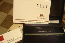 2011 KIA SORENTO OWNERS MANUAL PACKET & KIA CASE  NEW TAKE OUT