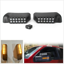 Pair Car Rear View Mirror W/Turn Signal Lights For LED Ford F-150/Raptor 2009-14