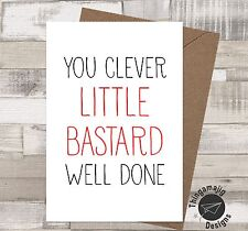 GRADUATION PASSED DRIVING TEST CARDS WELL DONE EXAMS BANTER Funny Humour / IZ