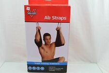 Heavy Duty Ab Straps Steel Carabiner Attachments, Woven Nylon Grommets Padded