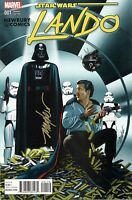STAR WARS: LANDO #1 Signed Mike Mayhew Variant Cover and COA